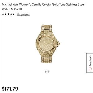 Michael Kors camille crystal gold-tone watch